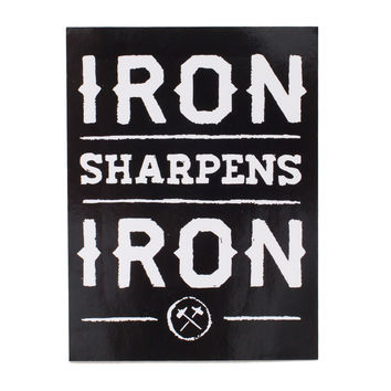 Iron Sharpens Iron Black Sticker