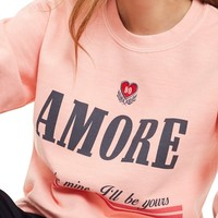Topshop Embroidered Amore Sweatshirt | Nordstrom