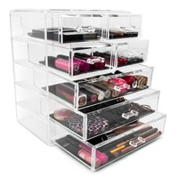 Acrylic Drawer Makeup Organizer with Removable Drawers | Overstock.com Shopping - The Best Deals on Makeup Cases