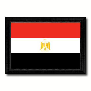 Egypt Country Flag Canvas Print with Black Picture Frame Home Decor Gifts Wall Art Decoration Gift Ideas