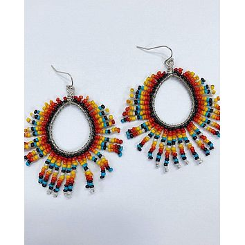 All The Colors Earrings - Coral