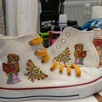 Zelda shoes - Free Shipping Hand Painted Shoes from denimtrend