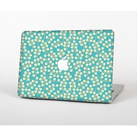 """The Blue and Yellow Floral Pattern V43 Skin Set for the Apple MacBook Air 13"""""""