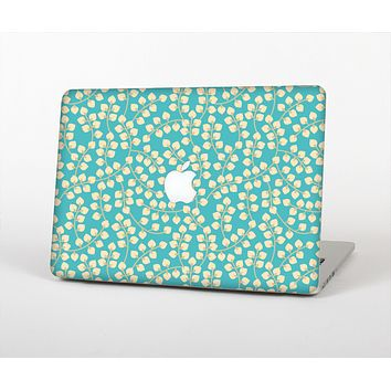 The Blue and Yellow Floral Pattern V43 Skin Set for the Apple MacBook Air 11""