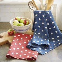 Polka Dot Kitchen Towel, Set of 2