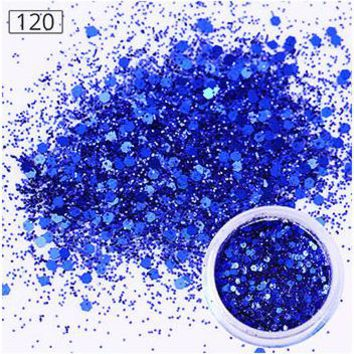 1 Box 10ml Dark Blue Sparkles Nail Glitters Powder Super Nail Dust Tips Nail Art Decorations #23409