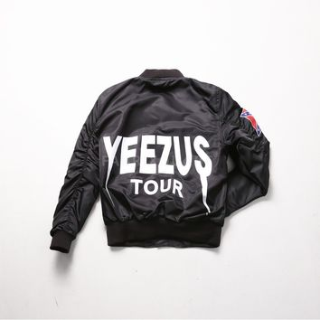 Mens XQUARE 23 Yeezus Tour Bomber Jacket at Fabrixquare