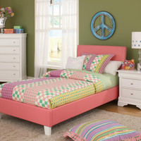 Pink and White Twin Youth Bed