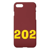 Burgundy and Gold 202 Phone Case