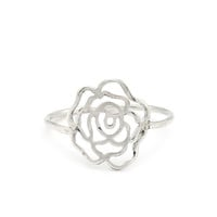 Sterling Silver Rose Blossom Ring