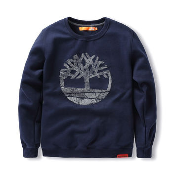 Print Tree Cotton Men Plus Size Hoodies [9555842503]