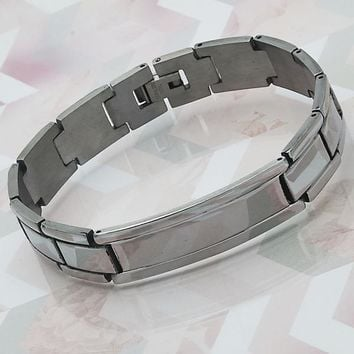 Stainless Steel Men ID Bracelet, by Folks Jewelry