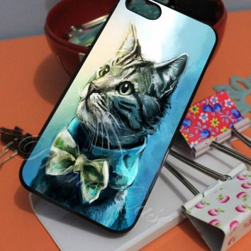 CAT WITH BOW  iPhone Case And Samsung Galaxy Case