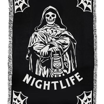 Nightlife Woven Tapestry Blanket