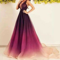 Luxe Gradient Prom Dress