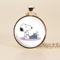 Writer Snoopy Typewriter Charm Necklace