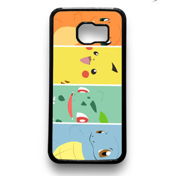 Pokemon Black Bulbasaur,Squirtle & Charmander,Pikachu Samsung Galaxy S6 & S6 Edge Case Xavanza