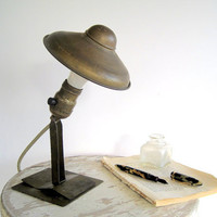 Vintage Industrial Light Adjustable Metal Lamp by BirdinHandVTG