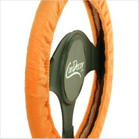 Bright Orange Steering Wheel Cover