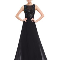 Black Jewel Sequined Maxi Dress