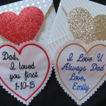 Custom Embroidered Wedding Tie Patch Set Of Two Father The Bride Gift