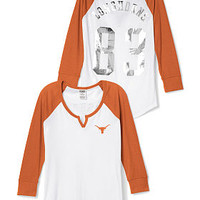 University Of Texas Split-Neck Baseball Tee - PINK - Victoria's Secret