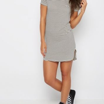 White Pencil Striped Mini Dress | Casual Dresses | rue21