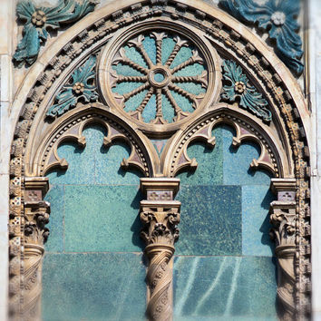 Italy Photography - Gothic Window, Florence, Italy, Travel Photography, Large Wall Decor