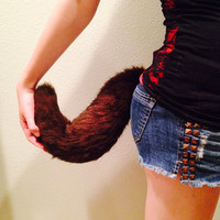 faux fur tail wolf coyote dog fox fursuit furry cosplay anime costume anthro