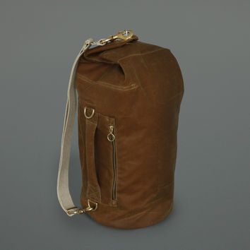 Waxed Cotton Kit Bag Toffee