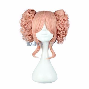 Biamoxer 35cm Lolita Cosplay wigs Short Wig with 2 ponytails Synthetic Blue Pink Black 6 Colors 100% High Temperature Fiber Hair