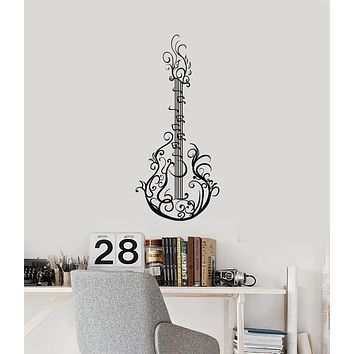 Vinyl Wall Decal Guitar Pattern Music Musical Instrument Home Decor Stickers Mural (ig6106)