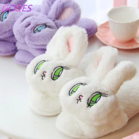 Japan WEGO rabbit stuffed with big eyes cute bunny slippers summer sandals and slippers tide slippers head