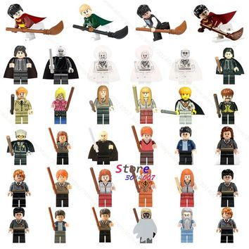 Single Building Blocks Harry Potter Action Figures Hermione Granger Ron Lord Voldemort Draco Malfoy Collection toys for children