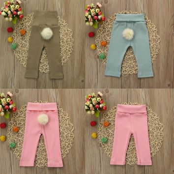 New Baby Pants Baby Clothing Infantil Newborn Kids Girls Boys Baby Knitted Winter Ball Soft Pants Autumn Winter Warm Cotton Pant