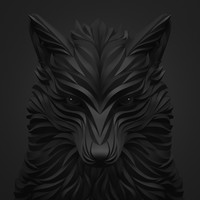 wolf black Art Print by Maxim Shkret