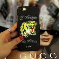 GUCCI Fashion Animal Print iPhone Phone Cover Case For iphone 6 6s 6plus 6s-plus 7 7plus
