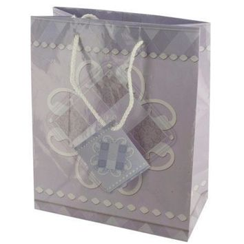 Medium Lavender Scroll Design Gift Bag Set Of 30 Pack