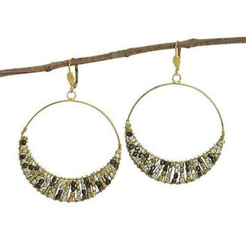 Ombre Cubist Hoop Earrings - WorldFinds