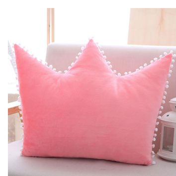 Crown pillow bed pillow pillow bow princess wind cushion with core liner washable girls gift