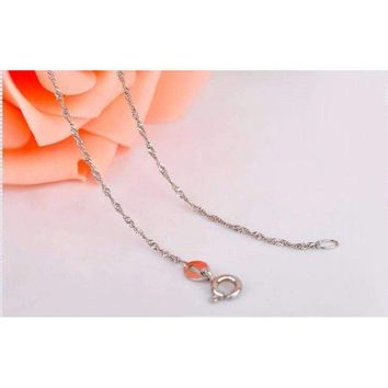 Rope Chain Necklace 925 Sterling Silver, 16in/ 18in