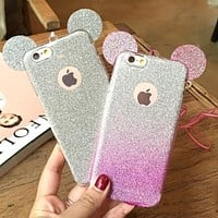 Silicon Glitter Gradient Candy Phone Cases for iPhone 5 5S SE 6 6S 7 Plus