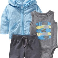 Old Navy 3 Piece Hoodie Sets For Baby