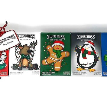 Swiss Miss Hot Cocoa Gift Pack - 5 Flavor Variety Pack, 4 Packets Each Flavor