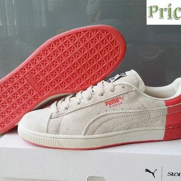 2018 Really Cheap Puma Staple x Suede Pigeon 361617 01 STAR WHITE-GEORGA PEACH sneaker