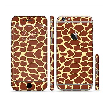 The Simple Vector Giraffe Print Sectioned Skin Series for the Apple iPhone 6 Plus