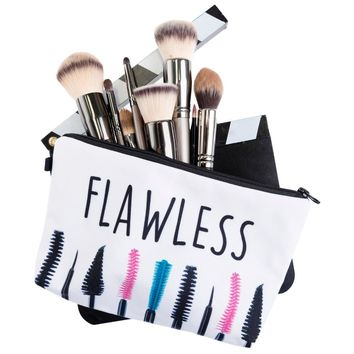 Mascara Flawless Cosmetic Zipper Bag