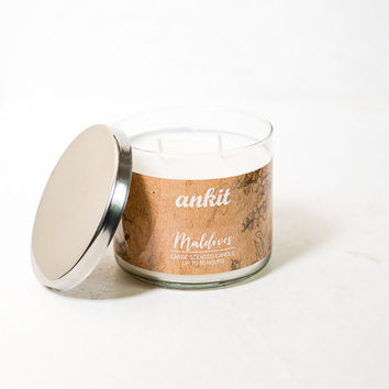 Maldives Scented Glass Jar Candle