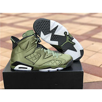 "Nike Air Jordan 6 Retro ""Nylon"" Green Basketball Shoe US8-13"