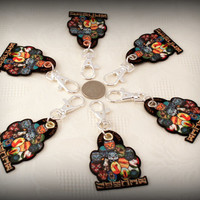 One Set Warrior Cats Bookmark With Clan Fob and Binder Swag Bling Jewelry Fan Boy Girl Stocking Stuffer FREE SHIPPING